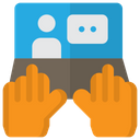 Online Start Talking Icon