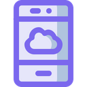 Cloud Network Smartphone Icon