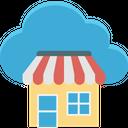 Cloud Computing Cloud Shop Cloud Store Icon