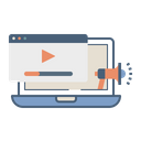 Online Video Promotion Icon
