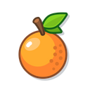 Orange Food Tasty Icon
