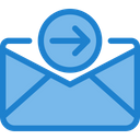 Out Paper Outbox Outgoing Email Icon