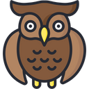 Owl Bird Scary Icon