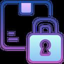 Padlock Protected Box Safe Shipping Icon