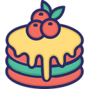 Pancake Cake Food Icon