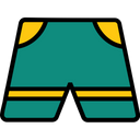 Travel Filled Pants Trousers Icon