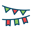 Paper Festoon Celebration Icon