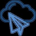 Cloud Storage Paper Plane Icon