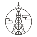 Paris City Building Icon