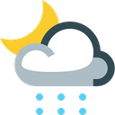 Partly Snowy Night Icon