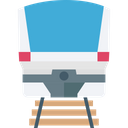 Passenger Train Railway Transportation Retro Train Icon