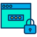 Password Protected Webpage Password Protected Website Secure Webpage Icon
