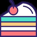 Pastry Cake Piece Slice Icon