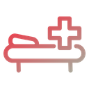 Patient Bed Hospital Bed Inpatient Icon