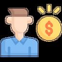 Internet Marketing Pay Per Lead Man Icon