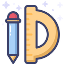 Pen And Ruler Pen Ruler Icon