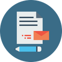 Pen Document Mail Icon