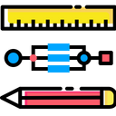 Pen Pencil Ruler Icon