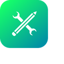 Pen Pencil Settings Icon