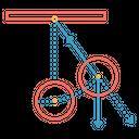 Pendulum Stand Circle Icon