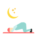 Perform Salah In The Night Sujud Salah Muslim Icon