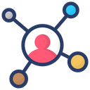 Affiliate Network Personal Network Personal Connection Icon