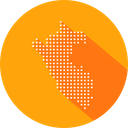 Peru Country Map Icon