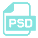 Photoshop File Format Psd Icon
