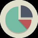 Piechart Graph Analysis Icon