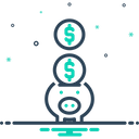 Piggy Bank Save Wealth Icon