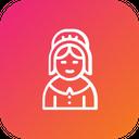 Pilgrim Girl Icon