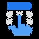 Hand Gesture Press Icon