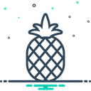 Pineapple Delicious Dessert Icon