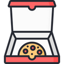 Pizza Pizza Box Pizza Pack Icon