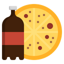 Pizza And Coke Pizza And Cooldrink Pizza Icon