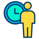 Daily Schedule Time Management Man Time Management Icon
