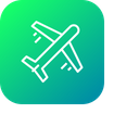 Plane Flight Holiday Icon