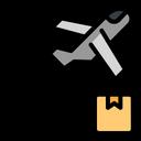 Plane Shipping Shipping Box Icon