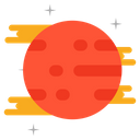 Planet Fireball Meteoroid Icon