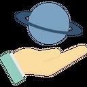 Astronomy Hand Planet Icon