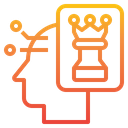 Human Mind Chess Strategy Icon