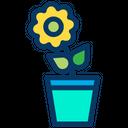 Flower Leaf Flower Pot Icon