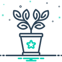 Plant In A Pot Botanical Greenery Icon