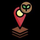 Plant Location Garden Map Icon