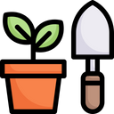 Planting Gardening Stay At Home Icon