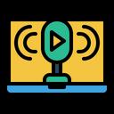 Podcast Audio Device Radio Recorder Icon