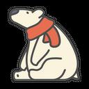 Winter Polar Bear Icon