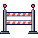 Police Barriers Barricade Barrier Icon