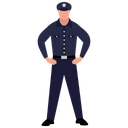 Policeman Police Officer Police Counsellor Icon