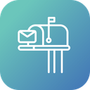 Postbox Letter Box Icon